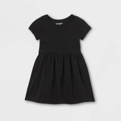 Toddler Girls' Solid Knit Short Sleeve Dress - Cat & Jack™