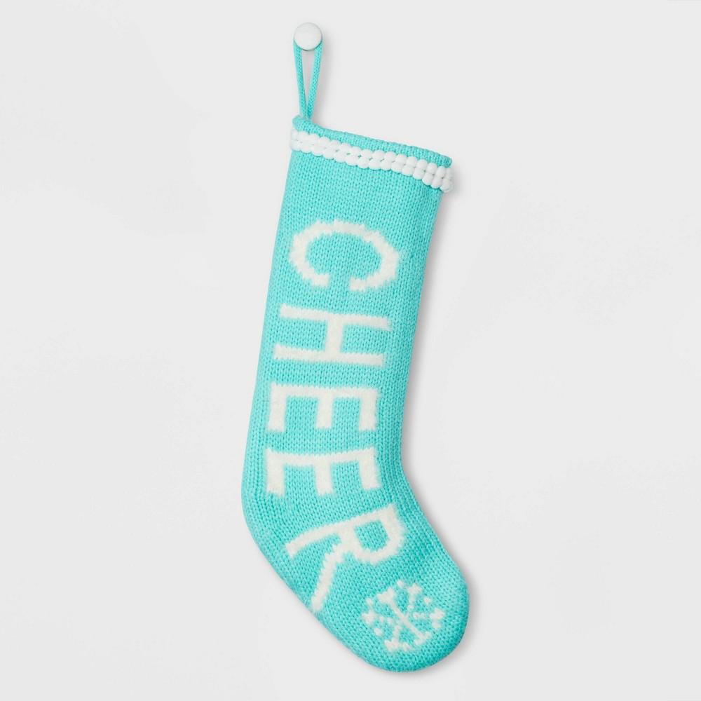 Image of Cheer Christmas Stocking Blue - Wondershop