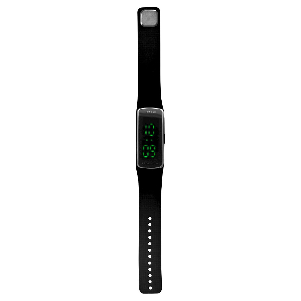 Boys' Fusion Hidden Led Digital Sportwatch - Black