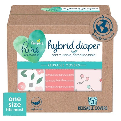 Pampers Hybrid Cover Girl Diapers Flowers and Buttons, Love More-pink, Cherries - 3ct