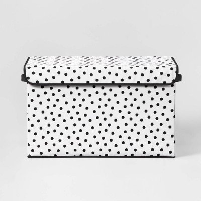Large Rectangle Dot Storage Bin Black/White - Pillowfort™