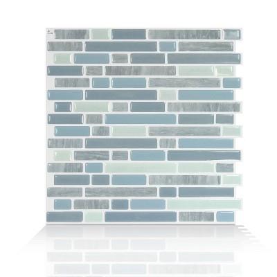 "Smart Tiles 3D Peel and Stick Backsplash 4 Sheets of 10.06"" x 10"" Kitchen and Bathroom Wallpaper Bellagio Alario"