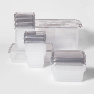 50pc Food Storage Container Set Gray - Room Essentials™