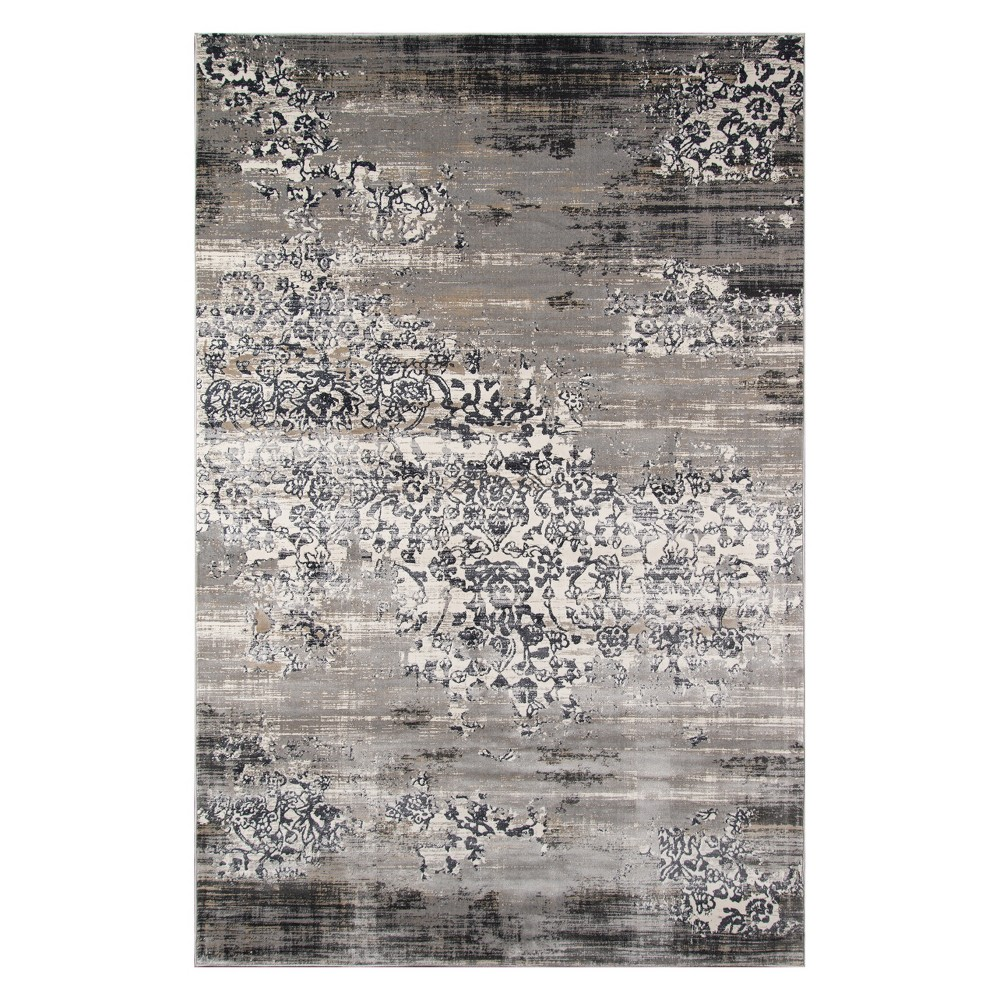 8 6 X11 6 Floral Loomed Area Rug Gray Momeni
