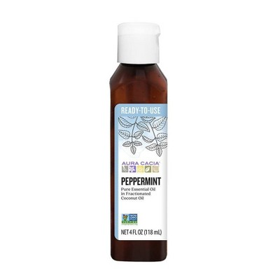 Aura Cacia Ready-to-Use Peppermint Essential Oil Blend - 4 fl oz