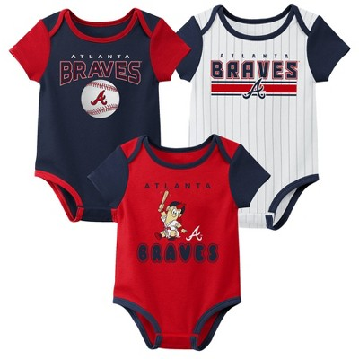 MLB Atlanta Braves Baby Boys' 3pk Bodysuit Set