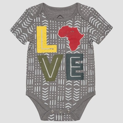 Wellworn Baby's Love Bodysuit - Gray 6-9M