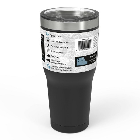 0186ab8f560 Zak Designs 30oz Double Wall Stainless Steel Tumbler