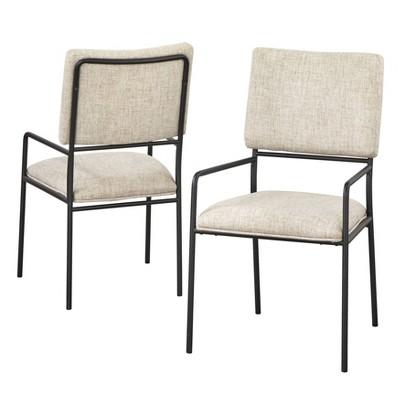 Set of 2 Indra Dining Chairs Cream - Lifestorey