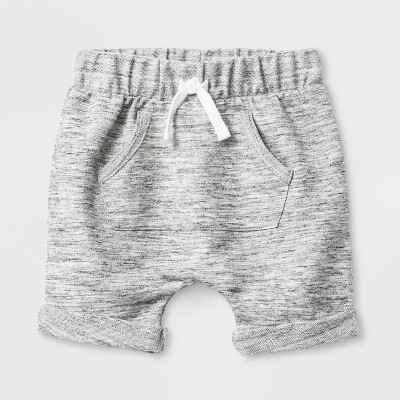 Baby Boys' Knit Terry Shorts - Cat & Jack™ Gray Newborn