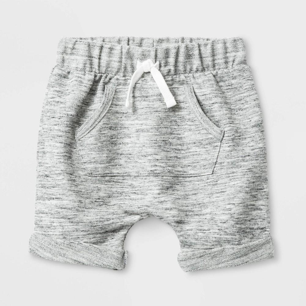 Baby Boys' Knit Terry Shorts - Cat & Jack Gray 6-9M
