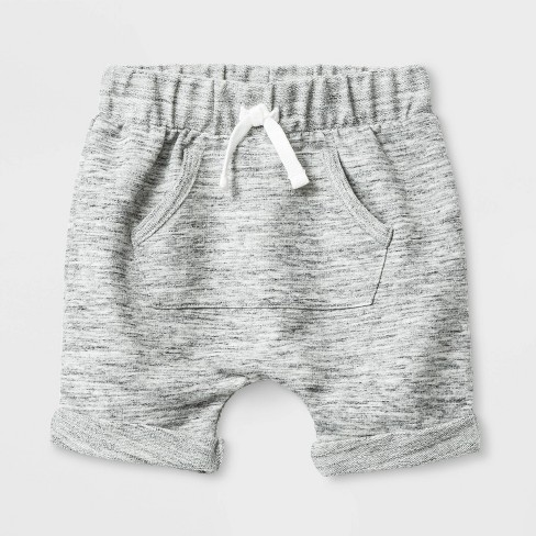 Baby Boys' Knit Terry Shorts - Cat & Jack™ Gray - image 1 of 1