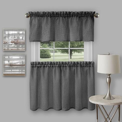 Achim Richmond Window Kitchen Curtain Tier Pair And Valance Set
