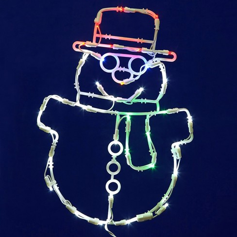"Vickerman 17"" Snowman Wire Silhouette with 35 LED Lights - image 1 of 1"
