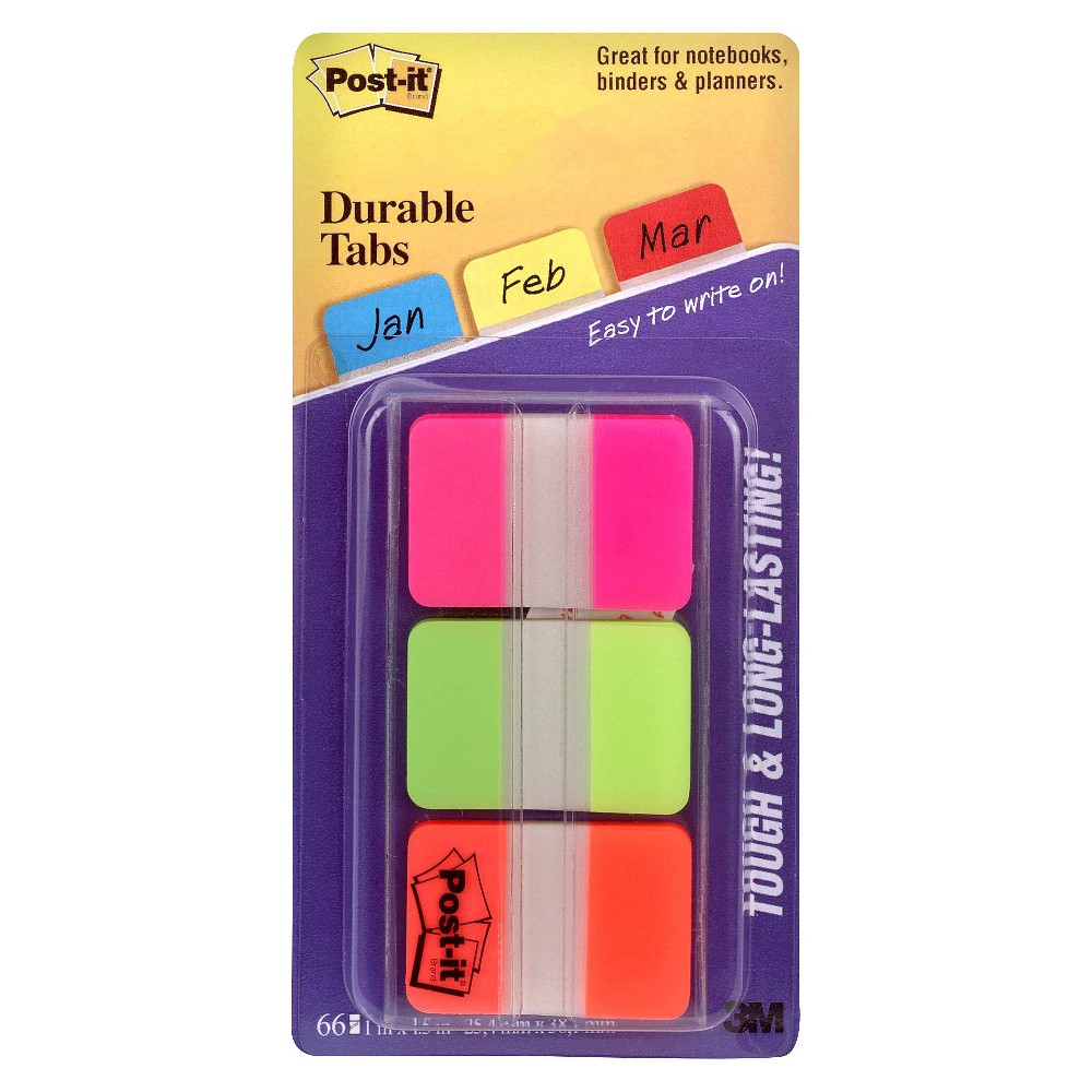 Post-it Durable Tabs 66-ct. 1in