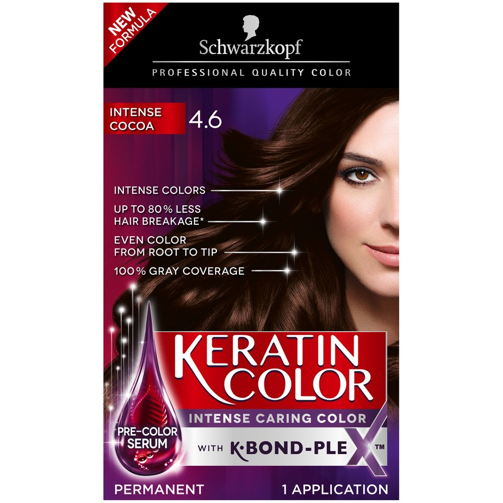 Image of Schwarzkopf Keratin Color Anti-Age Hair Color - 2.03 fl oz - 4.6 Intense Cocoa, 4.6 Intense Brown