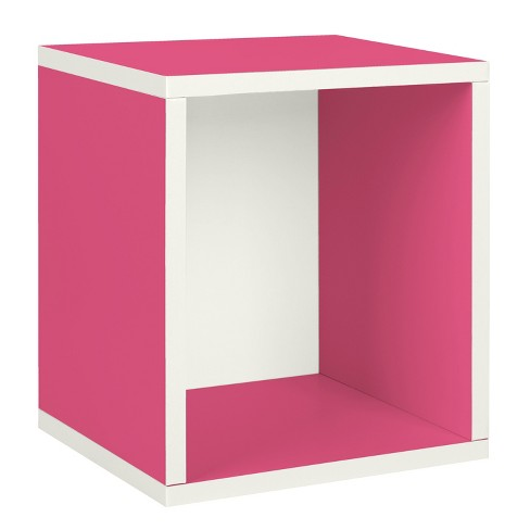 Way Basics Stackable Eco Storage Cube Cubby Organizer, Pink - Formaldehyde Free - Lifetime Guarantee - image 1 of 7