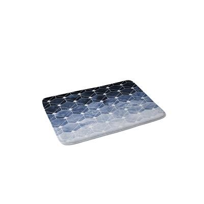 """24"""" x 36"""" Blue Hexagons and Diamonds Bath Rug Blue - Deny Designs"""