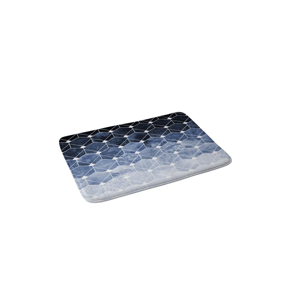 24 x 36 Blue Hexagons and Diamonds Bath Rug Blue - Deny Designs Compare