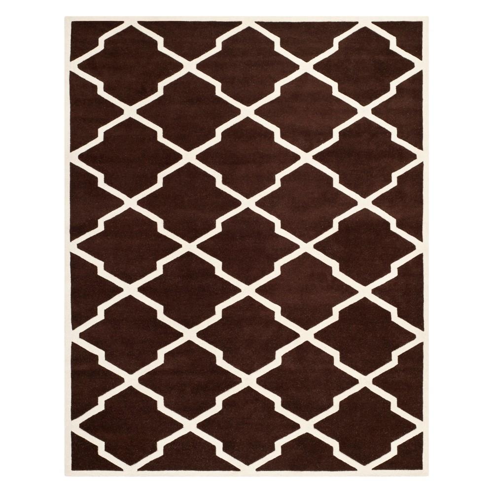 8'X10' Quatrefoil Design Tufted Area Rug Dark Brown/Ivory - Safavieh