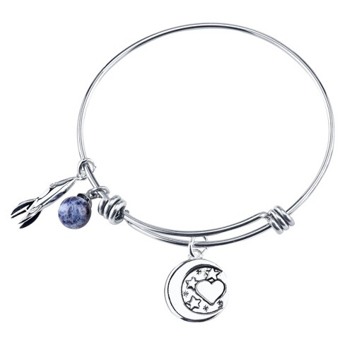 "Stainless Steel ""I Love You to the Moon and Back"" Expandable Bracelet - 8"" - image 1 of 1"