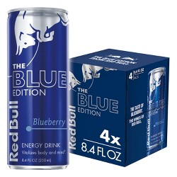 Red Bull Blue Edition Energy Drink - 4pk/8.4 fl oz Cans