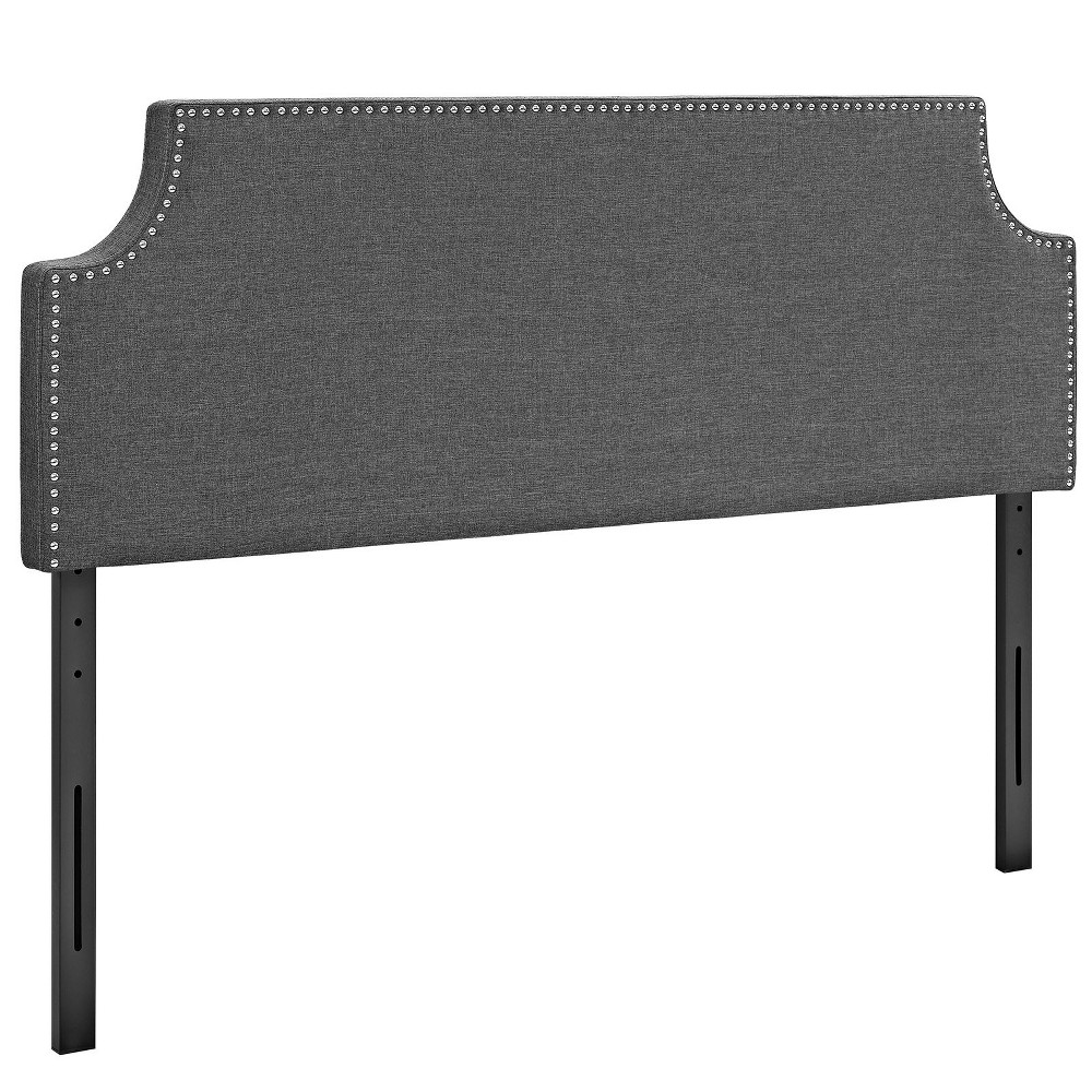 Laura King Upholstered Fabric Headboard Gray - Modway