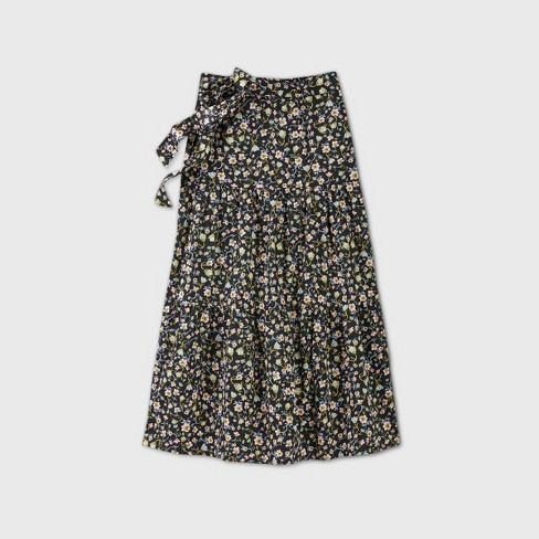 Women's Floral Print Tiered A-Line Maxi Skirt - Who What Wear™ - image 1 of 2