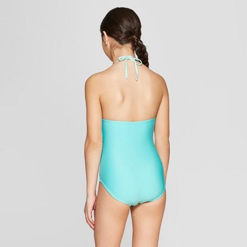 1c14afeea5ec1 Girls' Flip Sequins Shimmer Tail One Piece Swimsuit - Cat & Jack™ Aqua XL  Plus : Target