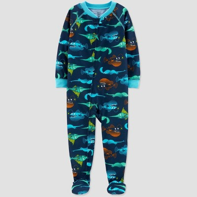 Baby Boys' Sea Creature Printed Footed Sleepers - Just One You® made by carter's Blue 12M
