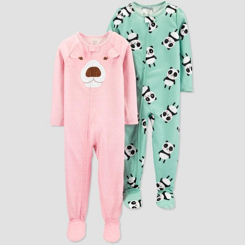 Toddler Girls' Bear One Piece Pajama - Just One You® made by carter's Pink - image 1 of 1