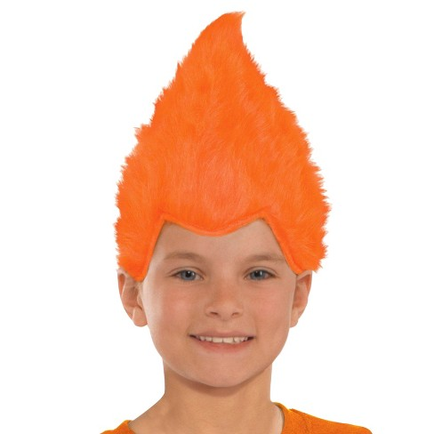 Kid's Fuzzy Wig -Orange - image 1 of 1