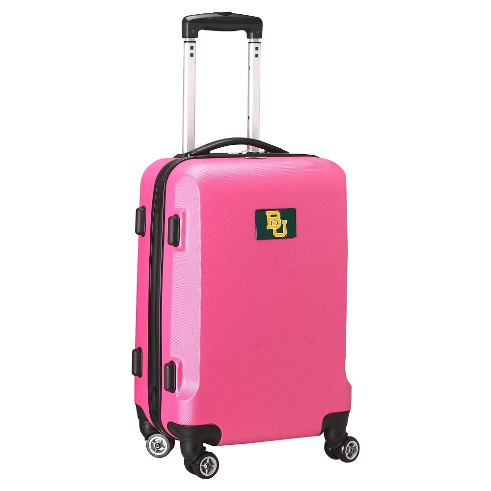 NCAA Baylor Bears Pink Hardcase Spinner Carry On Suitcase