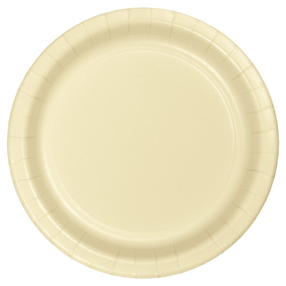 Ivory 7 Dessert Plates 24ct