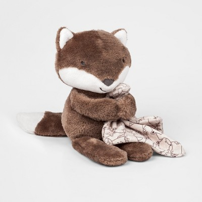 Baby's Fox Floppy Beanbag with Blanky - Just One You® made by carter's Dark Brown