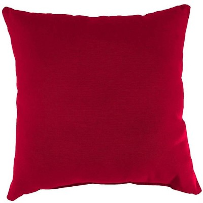 """22"""" Sq. Weather-Resistant Outdoor Large Square Classic Throw Pillow"""