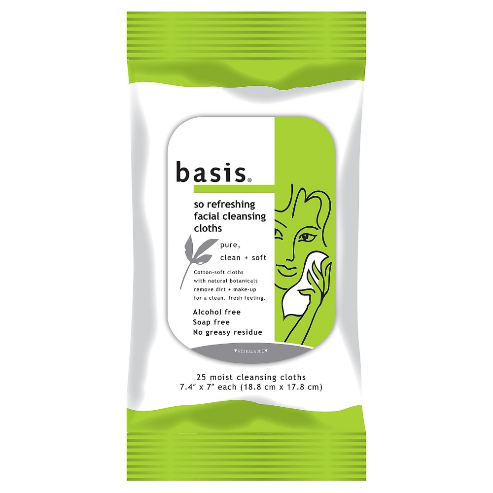 Basis 25 ct Wipe Basic Cleansing Facial Cleansing Wipes