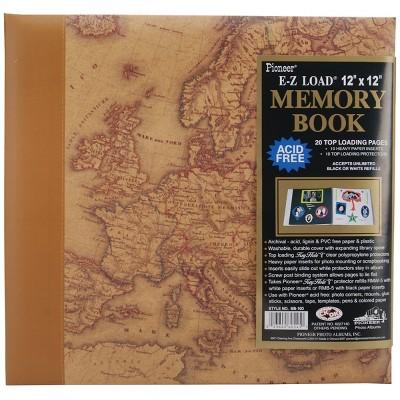 """Pioneer Designer Print Post Bound Album 12""""X12""""-Map"""