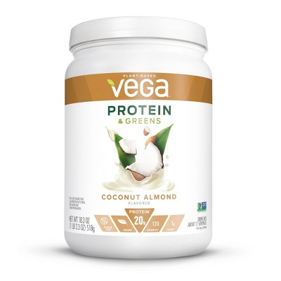 Vega Protein & Greens Vegan Protein Powder- Coconut Almond - 18.3oz