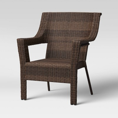 Southcrest Wicker Stacking Patio Club Chair - Brown - Threshold™