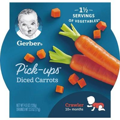 Gerber Veggie Pick-Ups Diced Carrots - 4.5oz