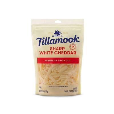 Tillamook Sharp White Cheddar Shredded Cheese - 8oz