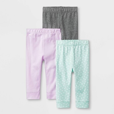 Baby Girls' Sweet Woodland 3pk Pants - Cloud Island™ 3-6M