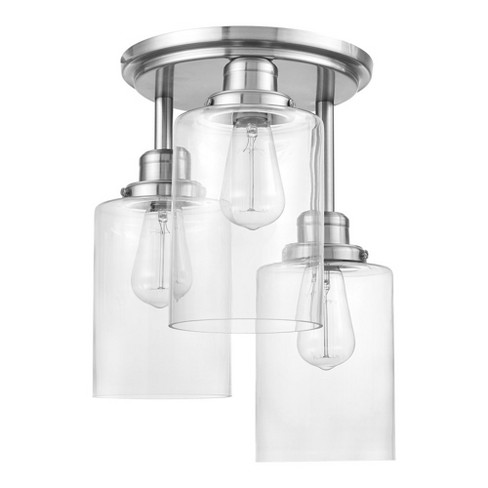 Globe Electric 61418 Annecy 3 Light 13 Wide Flush Mount Ceiling Fixture