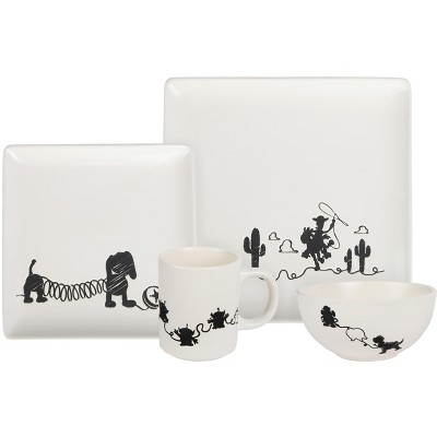 Seven20 Toy Story 4-Piece Ceramic Dinnerware Set With Scribble Characters