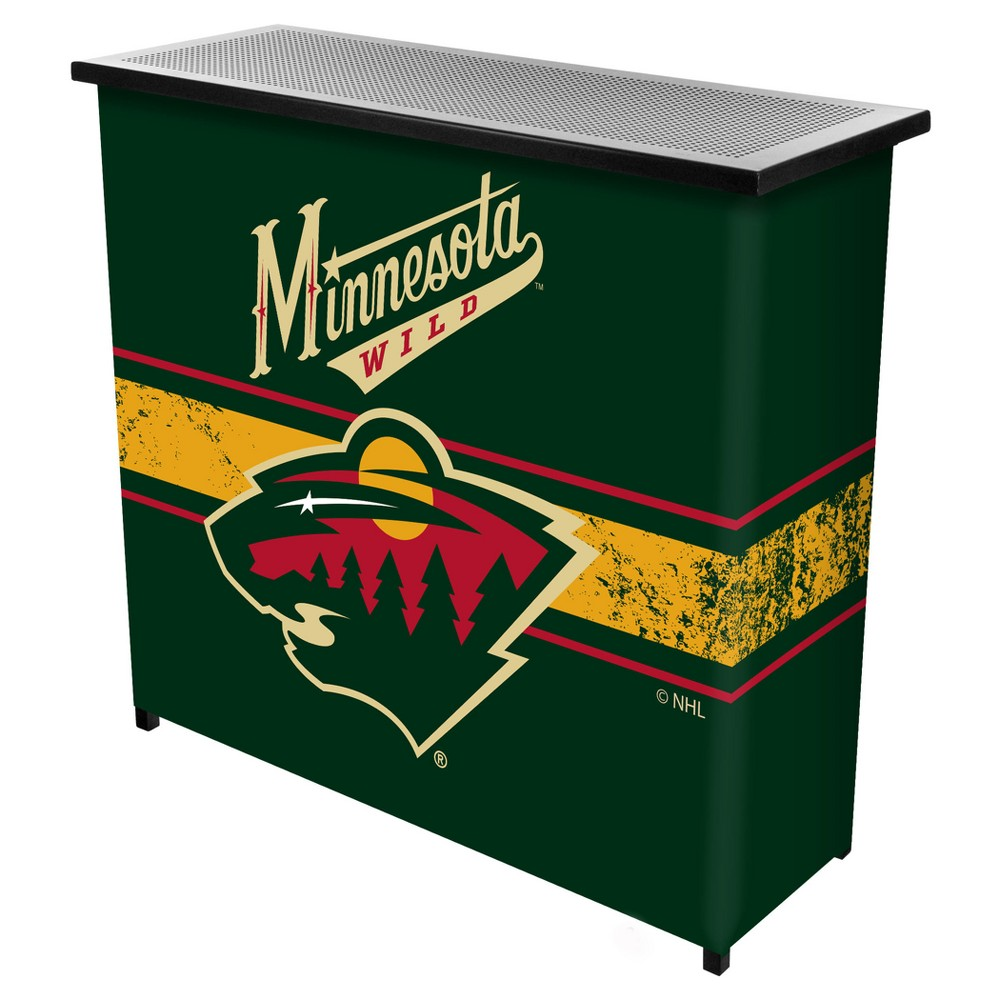 NHL Minnesota Wild Portable Bar with Case
