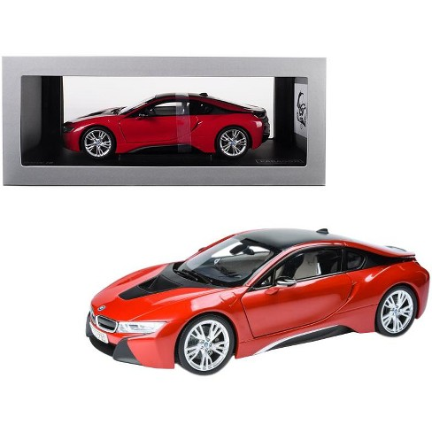 Bmw I8 Protonic Red With Black Top 1 18 Cast Model Car By Paragon