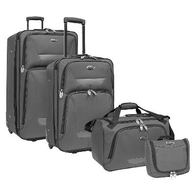 U.S. Traveler Westport 4pc. Luggage Set - Gray