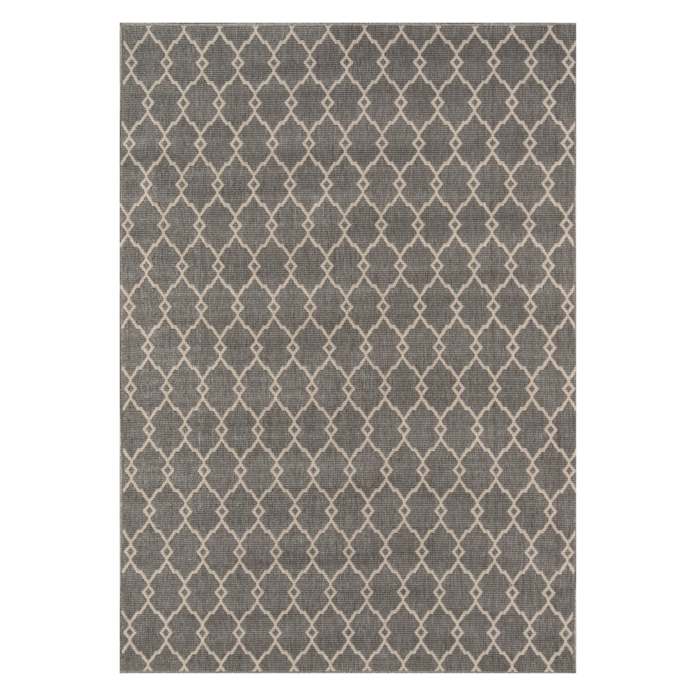 Geometric Loomed Accent Rug Gray