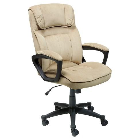 Executive Chair Velvet Microfiber Serta